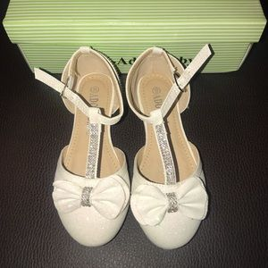 Other - White sparkly kids dress shoes
